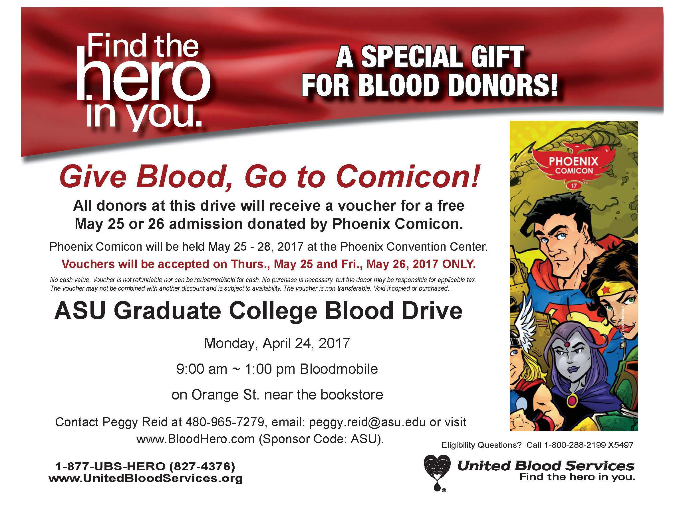 Graduate College And United Blood Services Blood Drive Asu Events