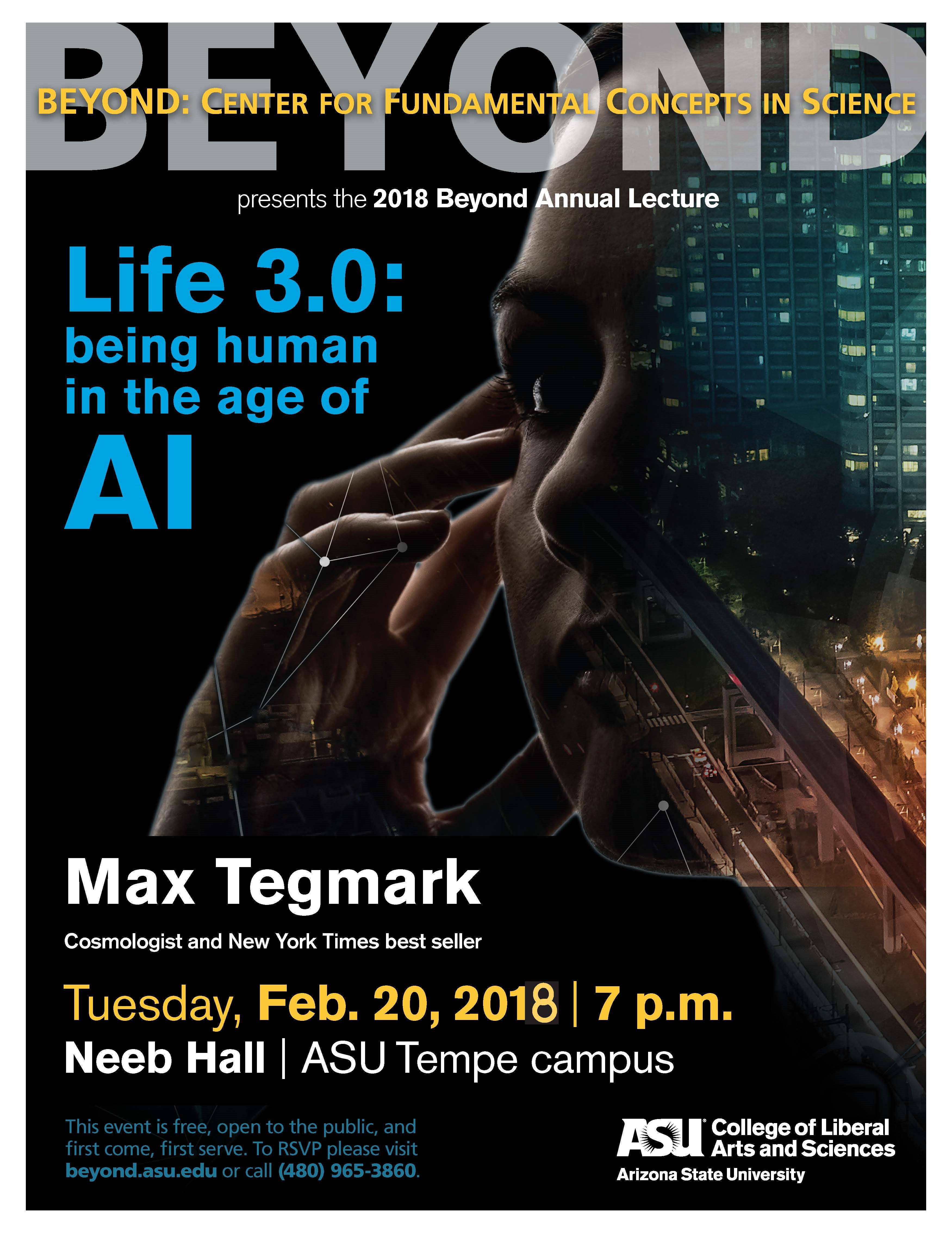 2018 Beyond Annual Lecture with Max Tegmark | ASU Events