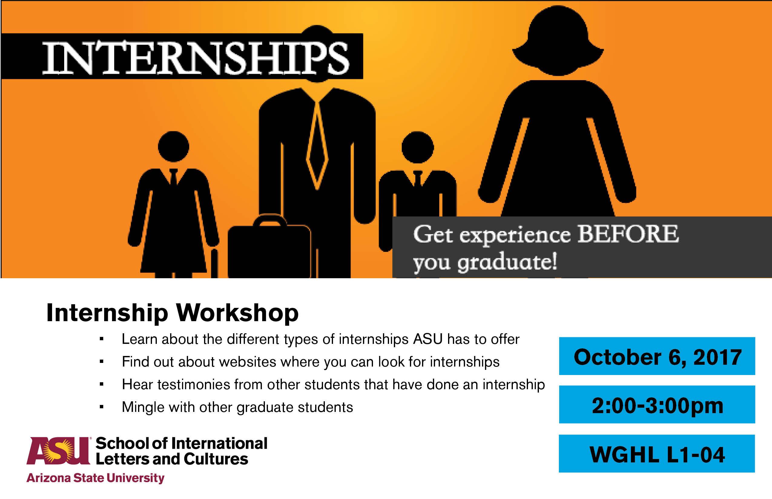 Internship Workshop Asu Events