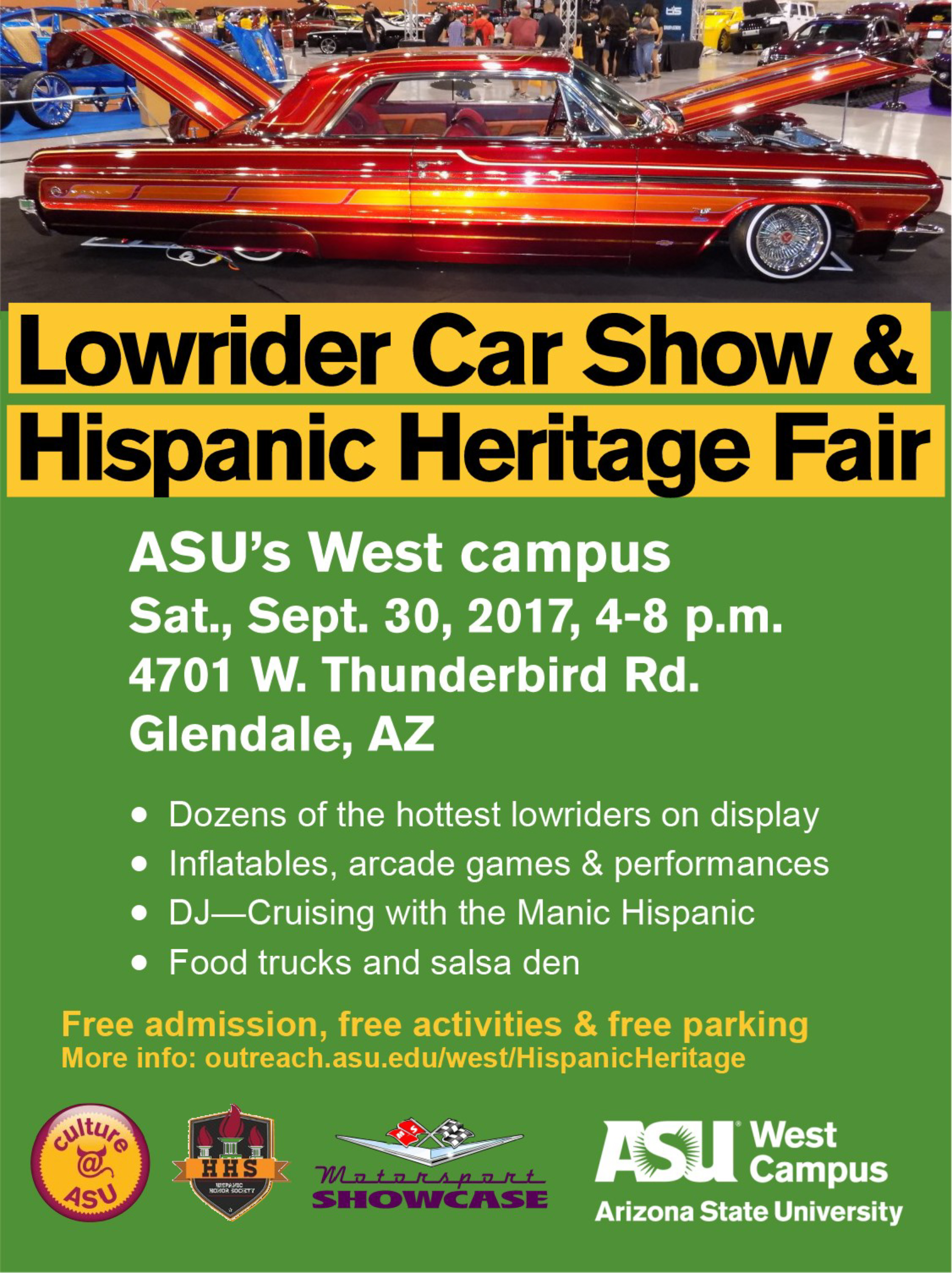 Lowrider Car Show And Hispanic Heritage Fair ASU Events - Car show calendar
