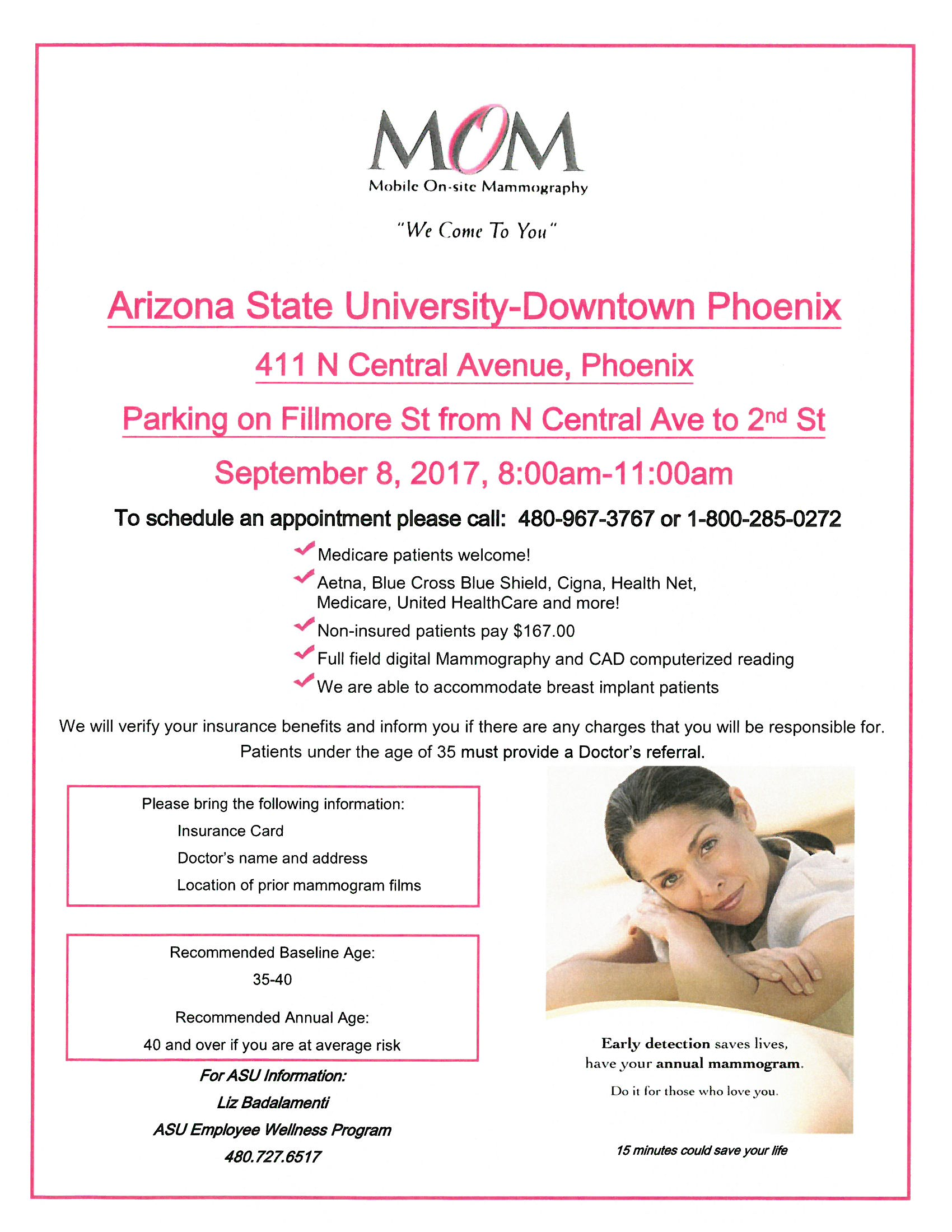 Mom mobile on site mammography asu events download flyer xflitez Gallery