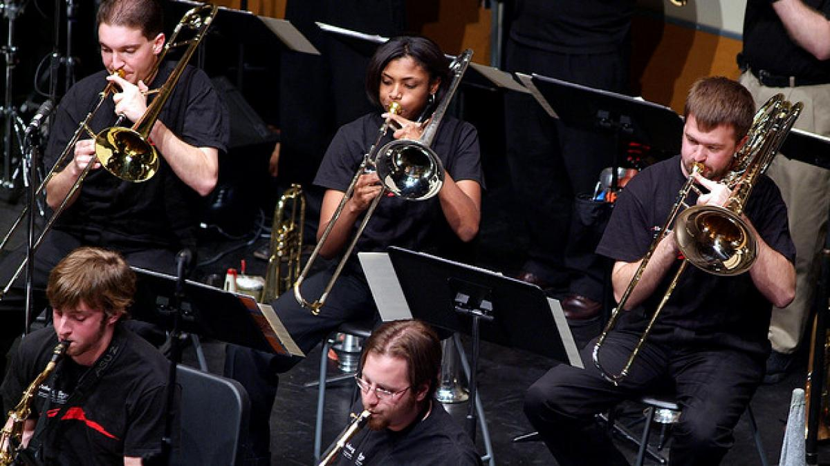 Photo of jazz ensemble performance