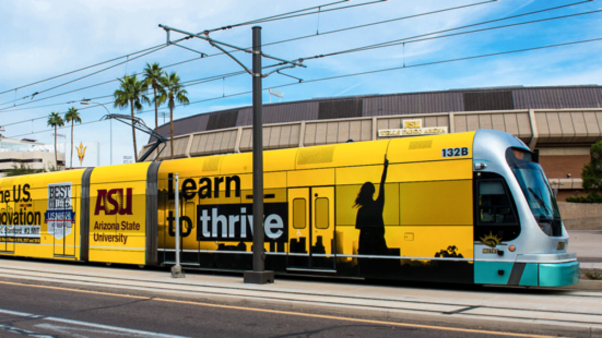 Phoenix light rail train