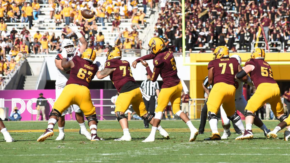 Sun Devil Football team playing a game