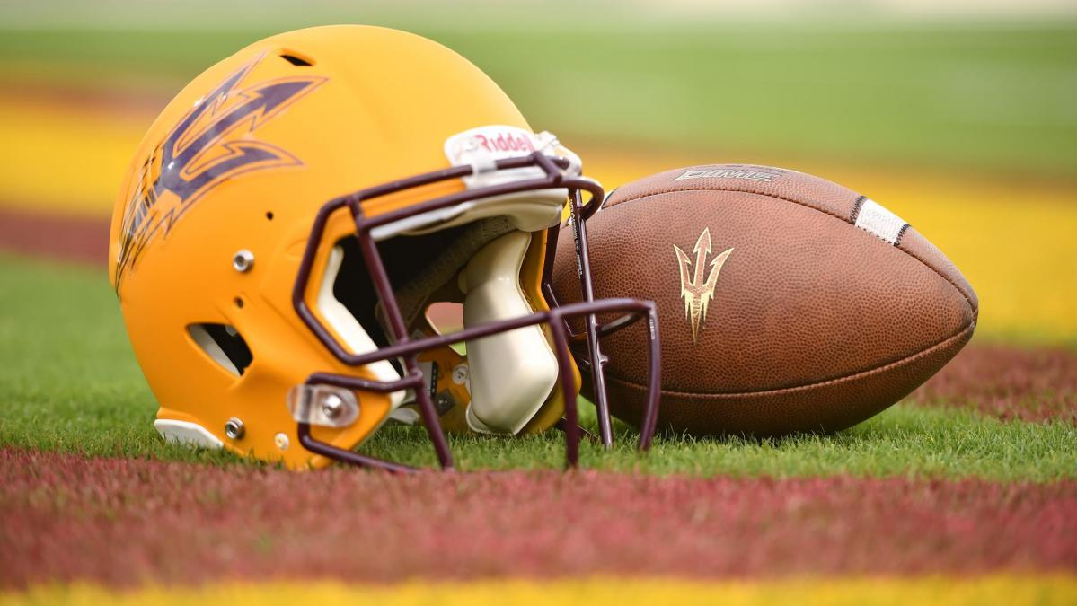Sun Devil Football helmet and football