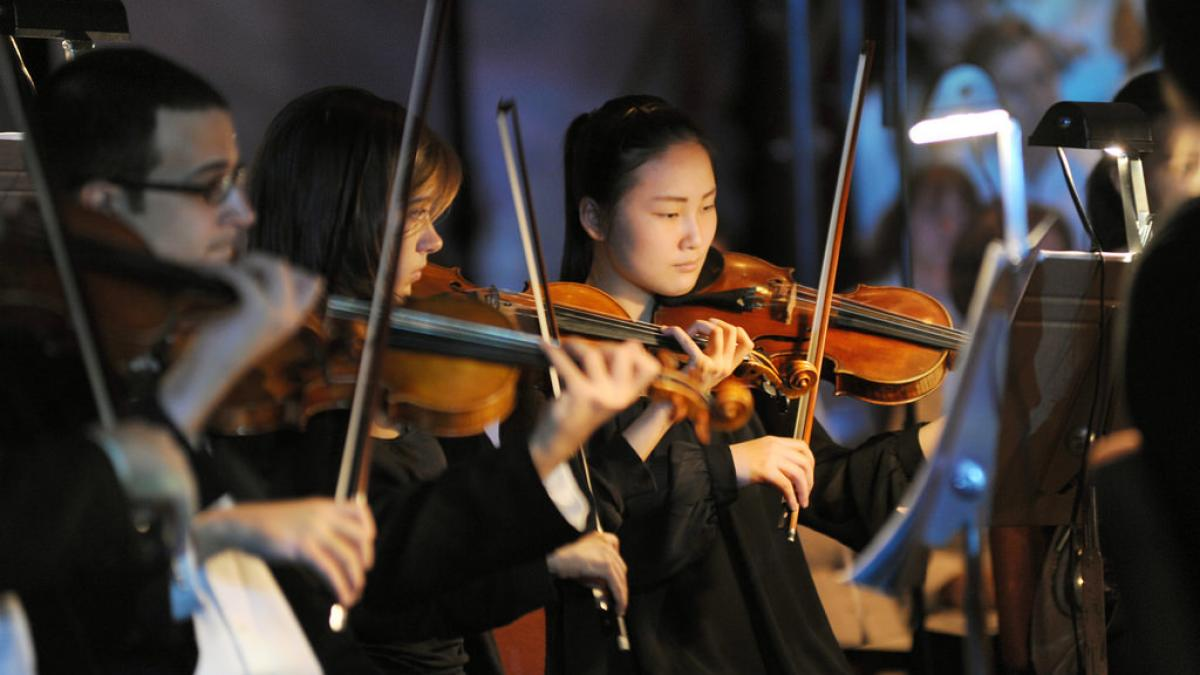 Photo of an ASU Symphony Orchestra performance