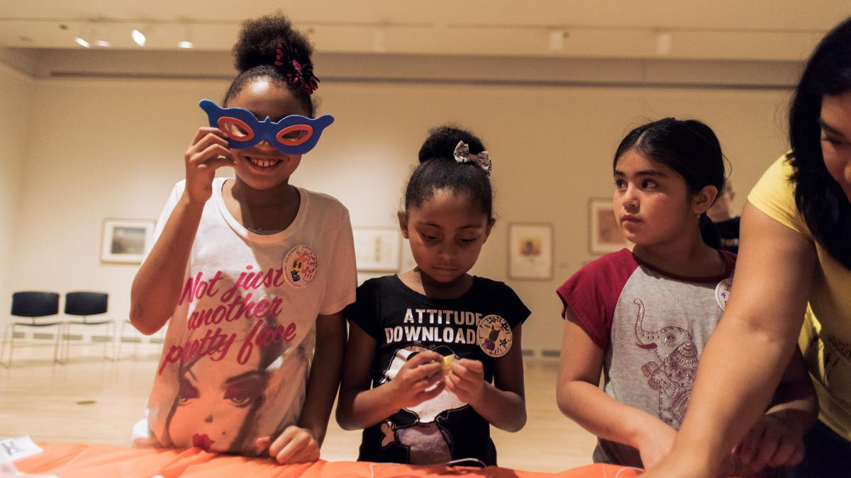Children enjoy activities at ASU Art Museum's Family Day
