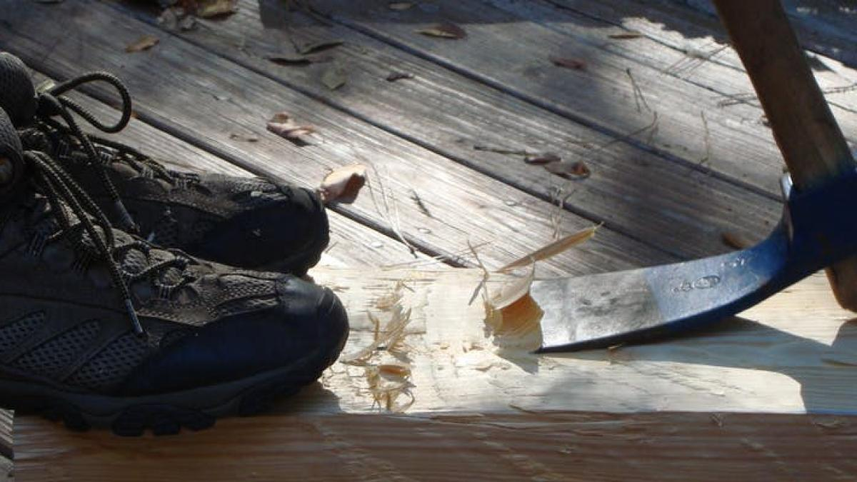 Image of boots and an axe