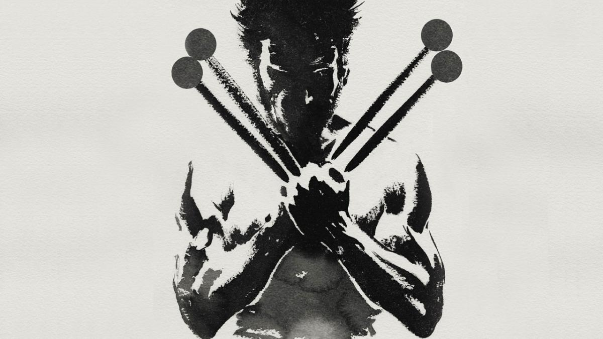 graphic image of drummer with cross drum sticks