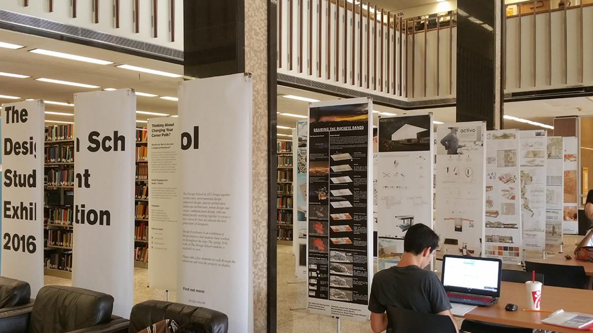 Image Of Design Excellence 2016 Installation In Hayden Library