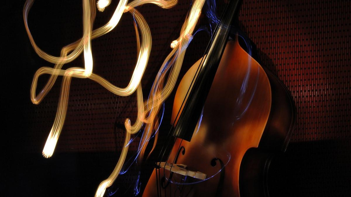 Photo of a double bass