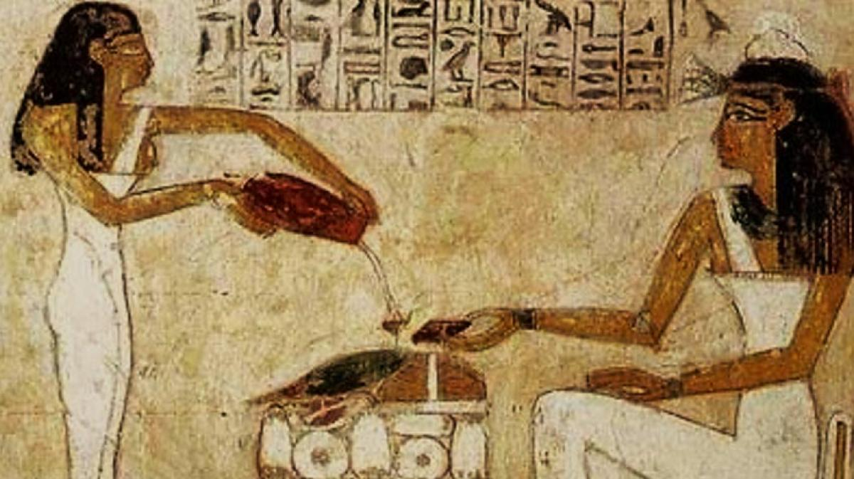 Egyptian art depicts women pouring beer