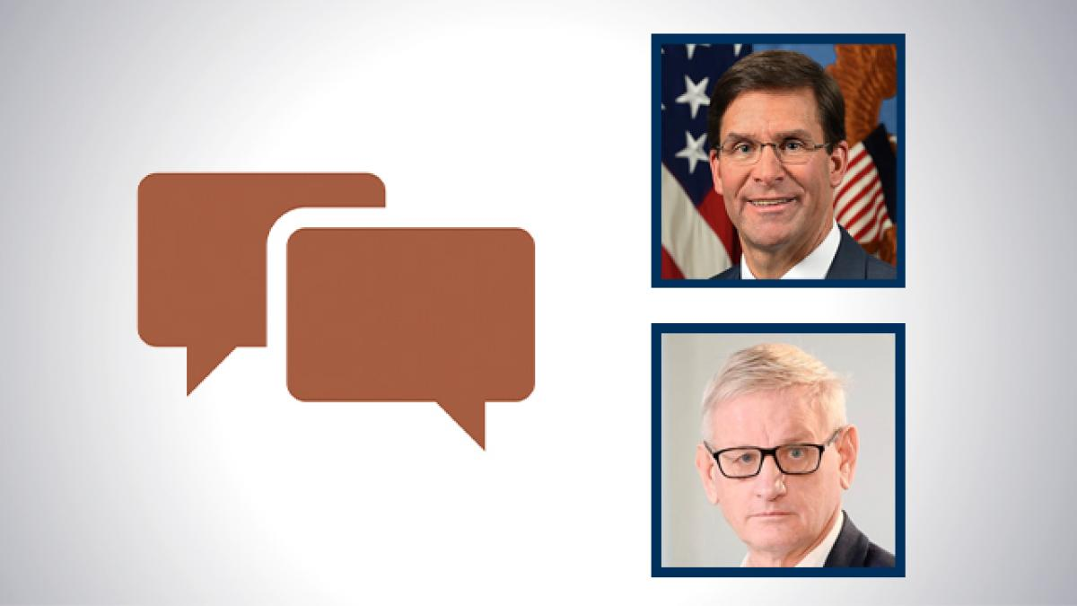 Dr. Mark T. Esper, the John McCain Distinguished Fellow and former U.S. Secretary of Defense, and Carl Bildt, Co-Chair European Council on Foreign Relations, Former Prime Minister and Foreign Minister of Sweden
