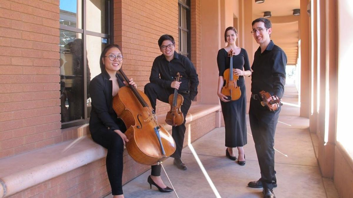 Photo of the Herberger String Quartet