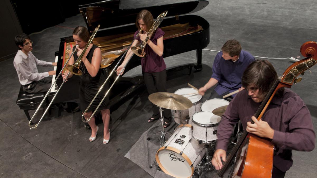 Photo of jazz combo performance