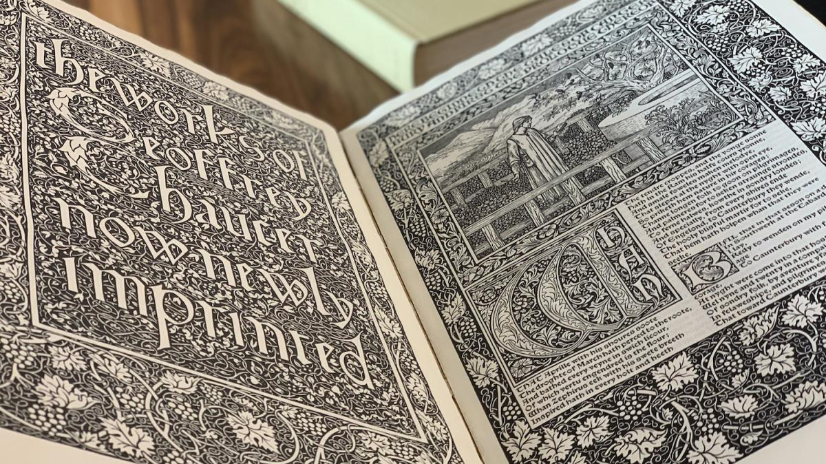 title page of the Kelmscott Chaucer