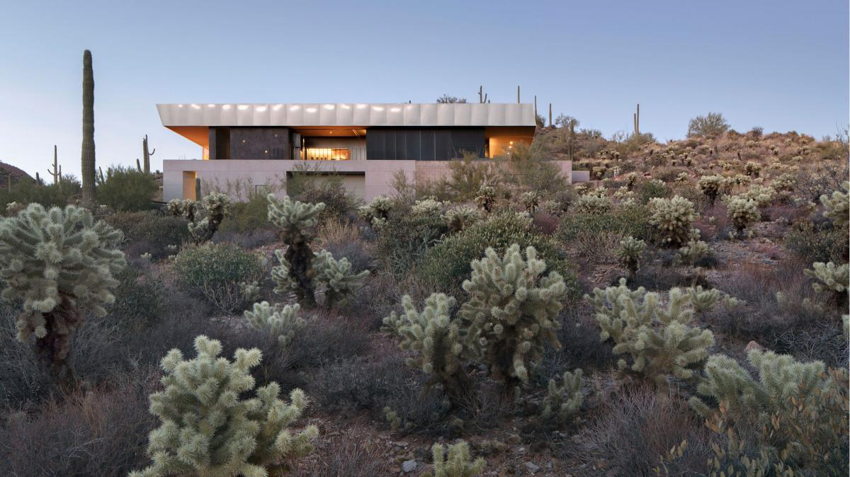 Wendell Burnette Architect's Meredith House is located in the desert