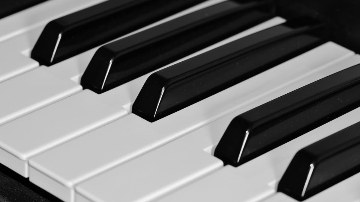 Stock photo of piano keyboard