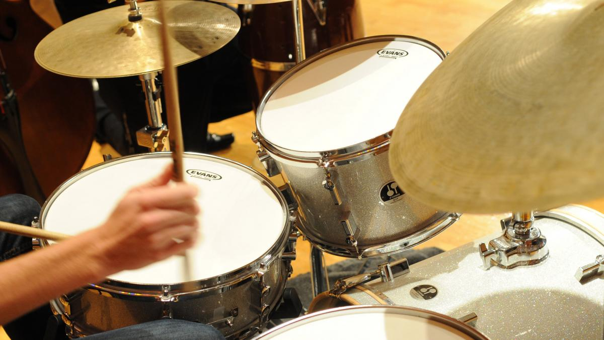 Stock photo of a jazz drum performer