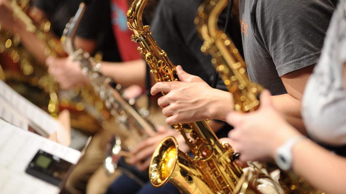 photo of saxophone players