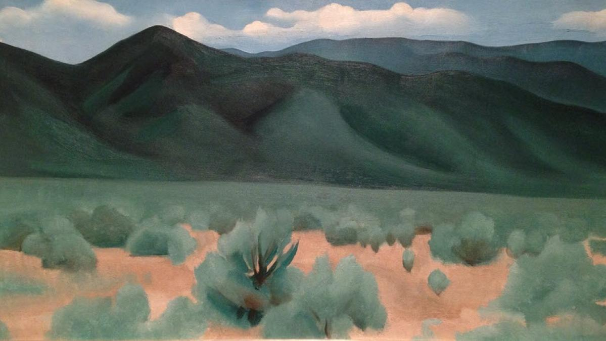 """Hills before Taos"" by Georgia O'Keeffe. Photo by Shannon McGee on Flickr. Used under CC 2.0."