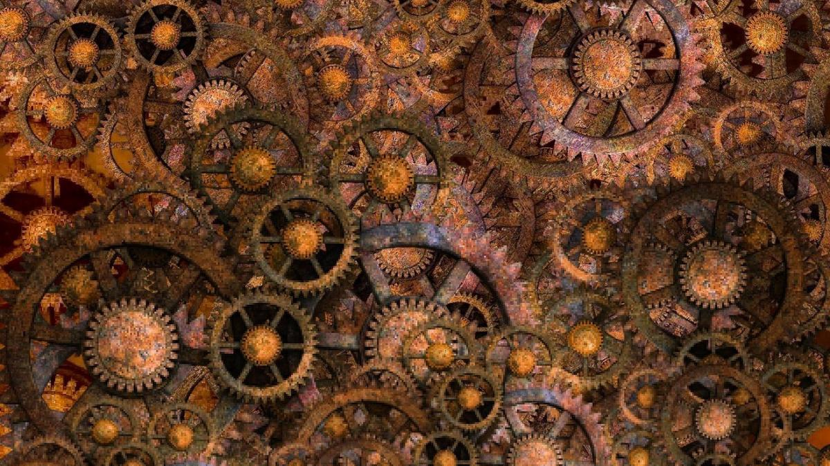 steampunk gear collage