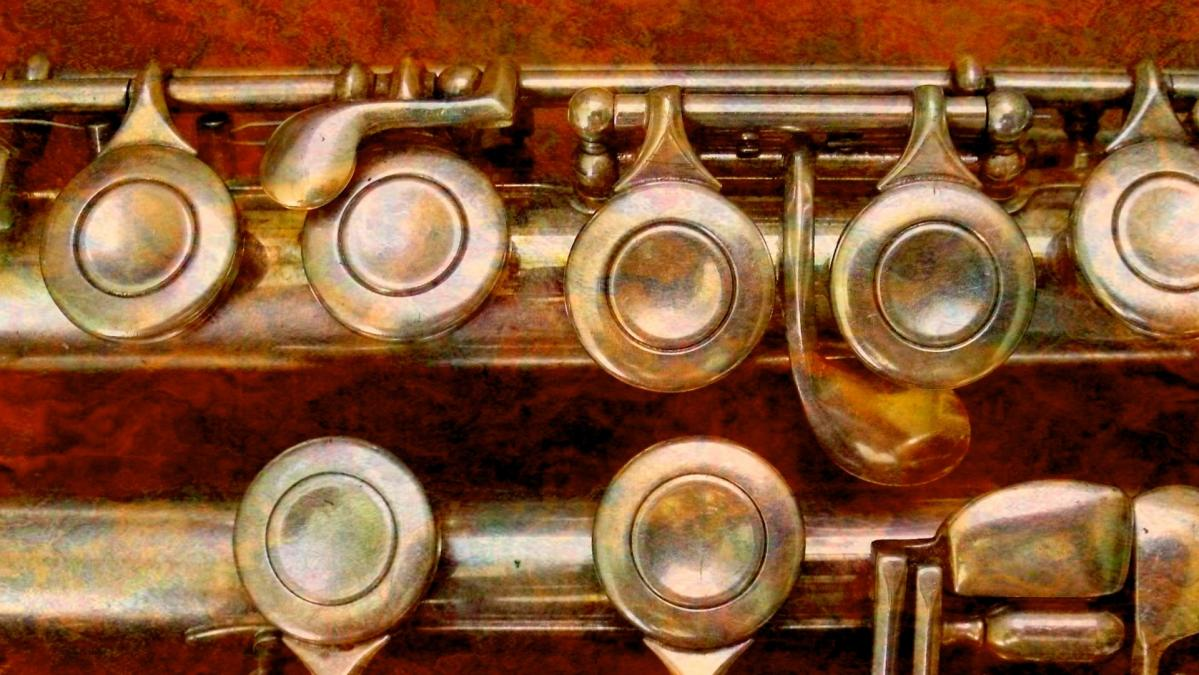 Close-up photo of a flute