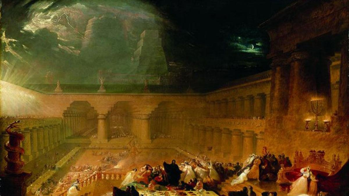 """The Destruction of Sodom and Gomorrah"" by John Martin, 1852. Public domain photo from Wikimedia Commons."