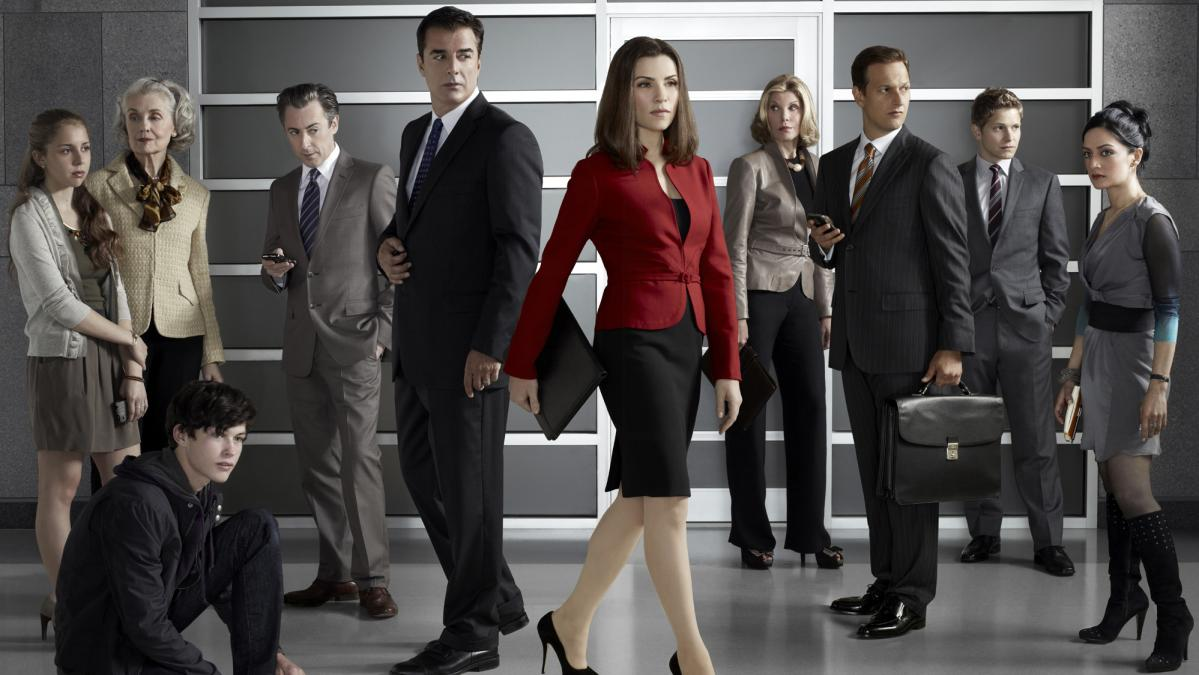 Publicity photo of the cast of the television series The Good Wife.