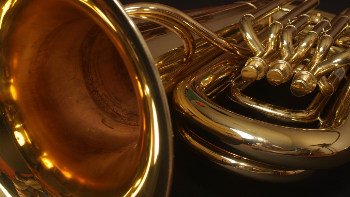 Stock photo of a tuba