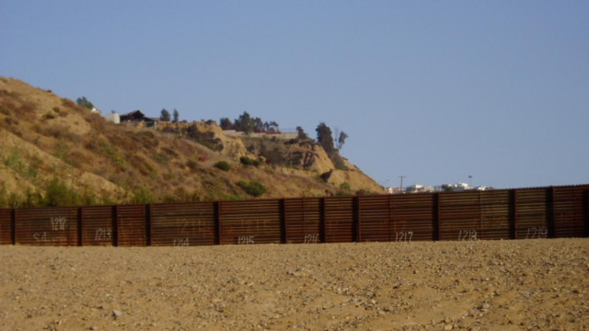 US-Mexico border near San Diego