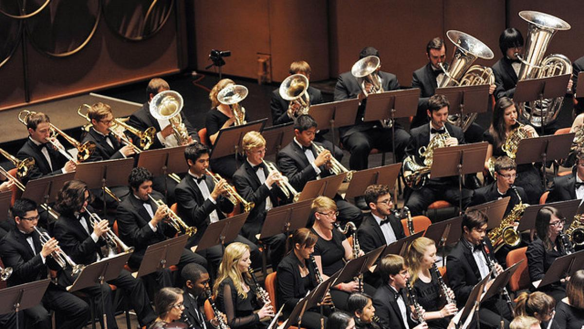 Stock photo of ASU Wind Ensemble