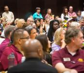ASU employees at recognition event