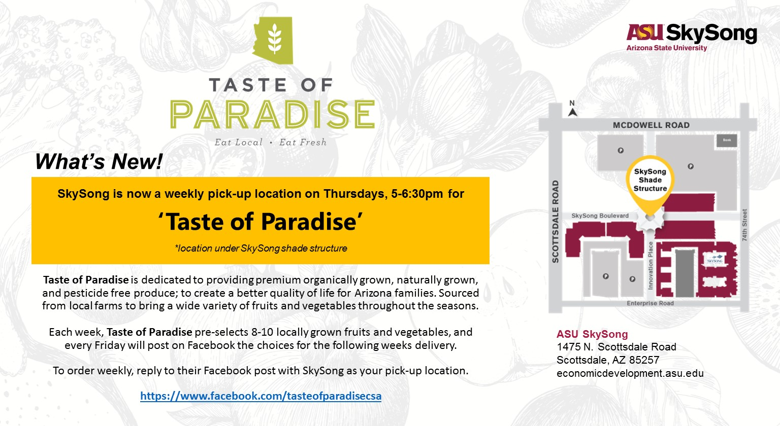 Taste Of Paradise At Skysong Asu Events